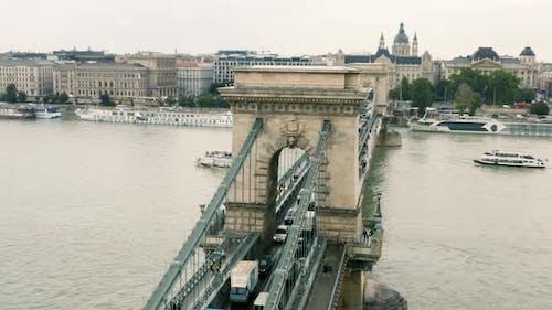 Chain Bridge Over the Danube in Budapest