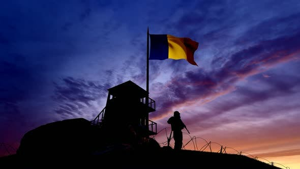 Thumbnail for Romanian Soldier On The Border At Night At The Border