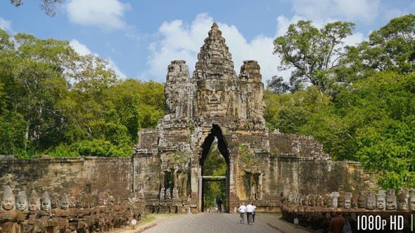 Thumbnail for Bayon Temple Entrance Angkor Thom Gate in Siem Reap, Cambodia