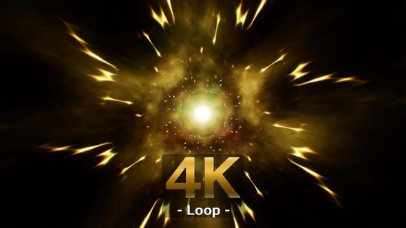 Electric Gold Energy 4K Loop
