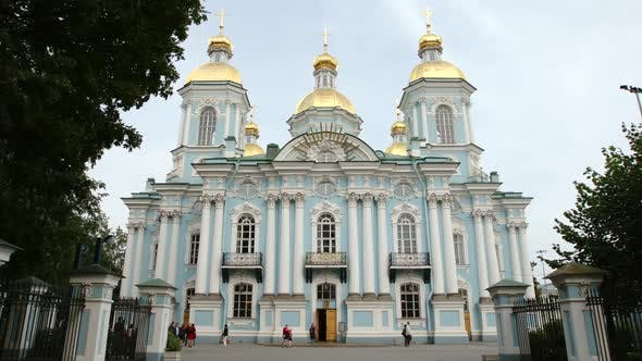 Thumbnail for St. Petersburg, Russia: The Naval (Nikolsky) Cathedral In The Summer Day