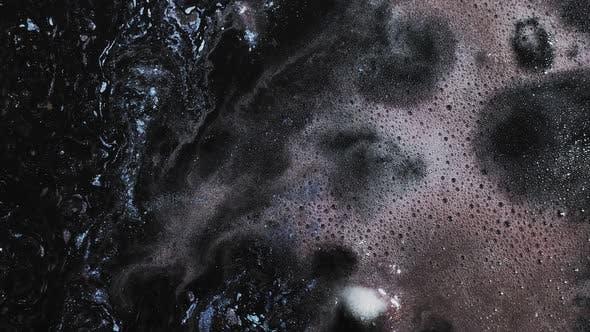 Thumbnail for Glitter Ink Black Bubbling Texture