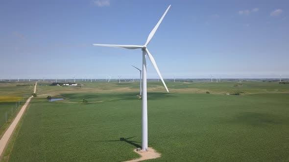 Minnesota Summer Wind Turbines Power Renewable Electricity Windmill
