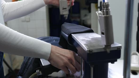 Thumbnail for Hands of Woman Using Equipment for Dry Cleaning