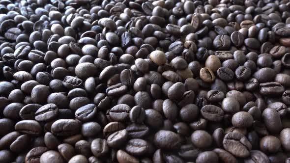 Menge Kaffeebohnen