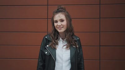 Portrait of a Girl in a Leather Jacket