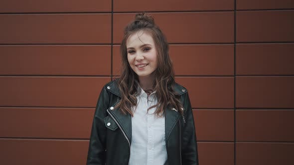 Thumbnail for Portrait of a Girl in a Leather Jacket