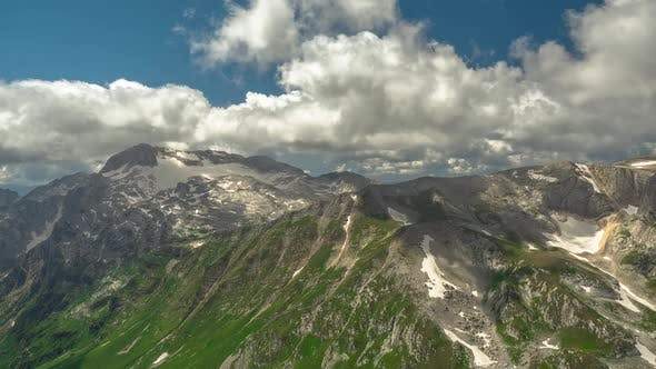 Thumbnail for Aerial Shot of One of the Most Famous Mountains of the Caucasus - Fisht Mountain Under the Clouds of