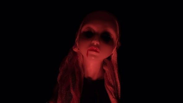 Thumbnail for Halloween Spooky Doll Bloody Red