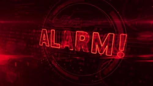 Alarm symbol abstract