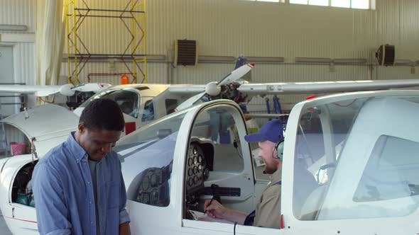 Thumbnail for Aircraft Mechanics Testing Airplane Systems