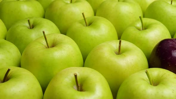 Thumbnail for Many apples at wooden plate