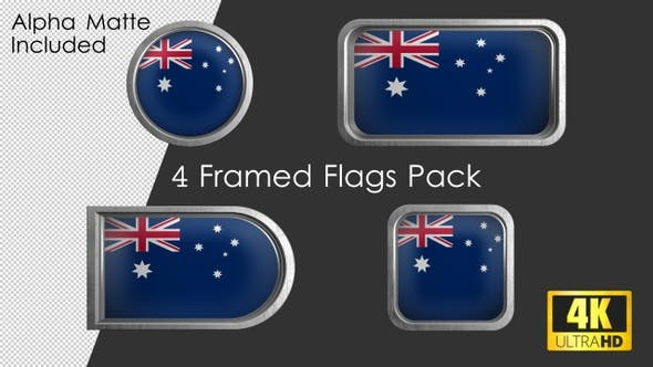Thumbnail for Framed Australia Flag Pack