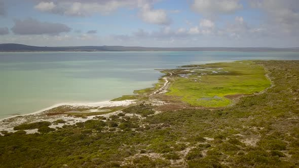 Thumbnail for Aerial view of West Coast National park, Cape Town, South Africa.