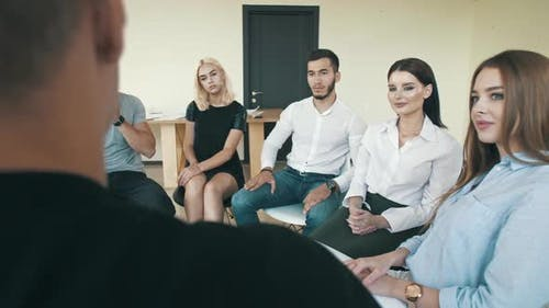 Man Sharing Troubles with Support Group