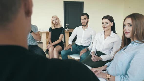 Thumbnail for Man Sharing Troubles with Support Group