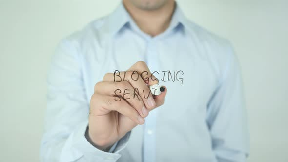 Blogging Services, Writing On Screen
