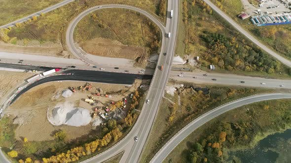 Aerial view of Transport interchange near the village. 30