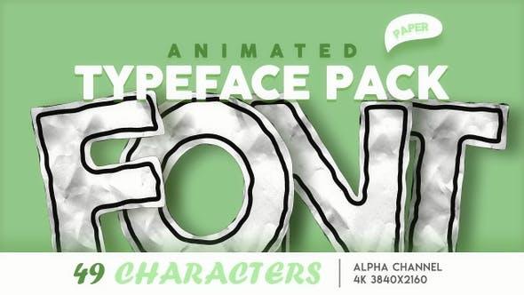 Crumpling Paper Font Pack