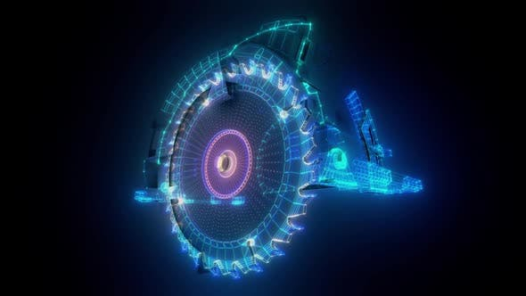 Industrial Generic Circular Saw Hud Hologram Hd