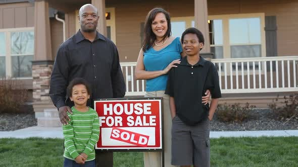 Thumbnail for Happy African American family buy a house
