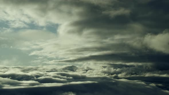 Thumbnail for Dramatic Aerial Cloudscape in Twilight