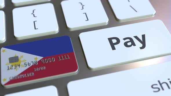 Thumbnail for Bank Card with Flag of Philippines As a Key on a Keyboard
