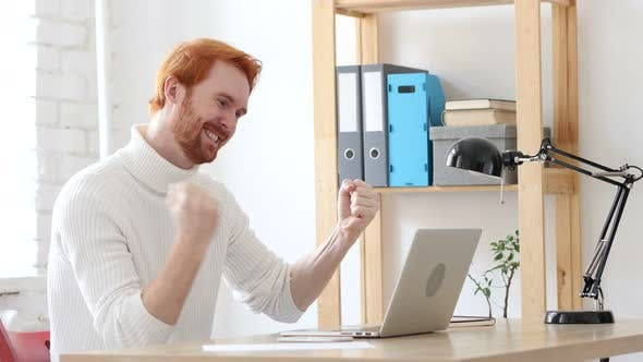 Thumbnail for Man with Red Hairs  Celebrating Success and Achievement