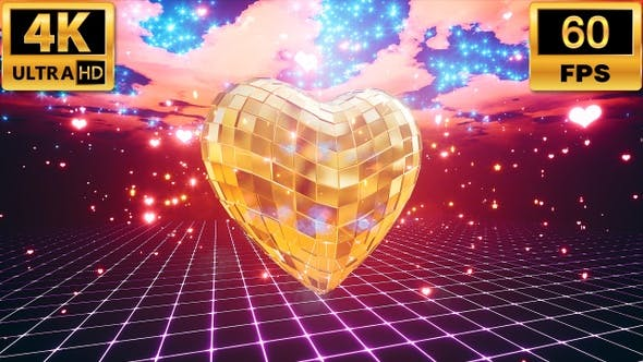 Thumbnail for Gold Disco Heart 4k