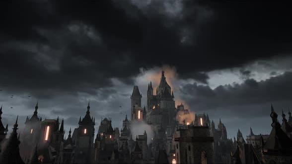 Dark Fantasy Background Animation 2