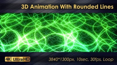 3D Animation With Rounded Lines