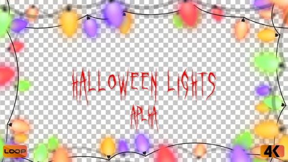 Thumbnail for Halloween Lights Frame Alpha