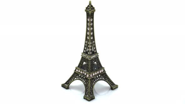 Thumbnail for Rotating Statuette Of The Eiffel Tower Paris