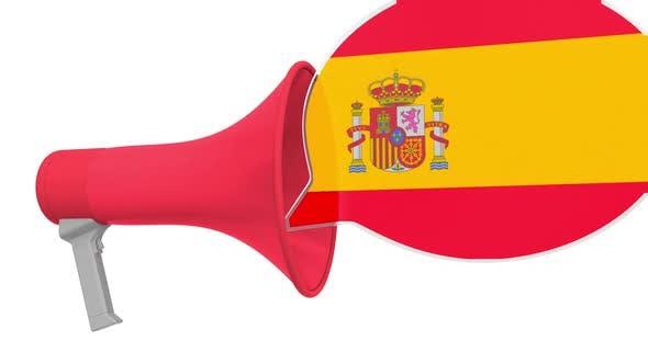 Thumbnail for Loudspeaker and Flag of Spain on the Speech Balloon