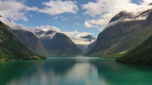 Beautiful Nature Norway Natural Landscape Lovatnet Lake