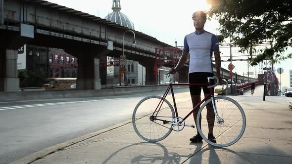 Thumbnail for Cyclist in brooklyn