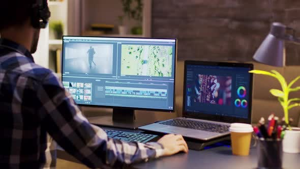 Thumbnail for Colorist Engineer Using Modern Software for Movie