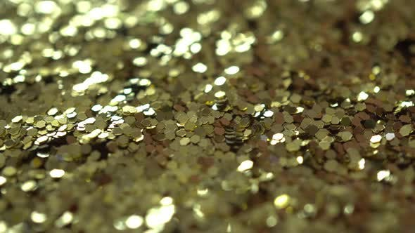 Thumbnail for Rotation Macro Golden Particles Background