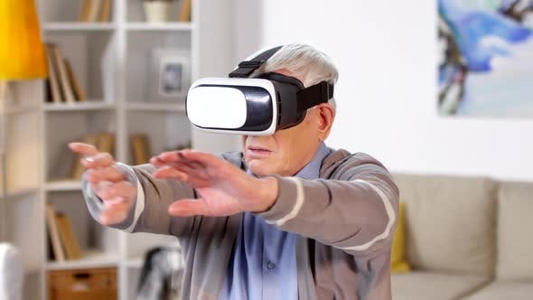 Thumbnail for Senior Man Using Virtual Reality Headset