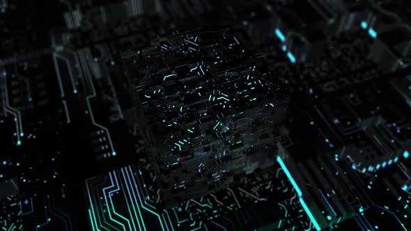 Looped Circuit Board Background