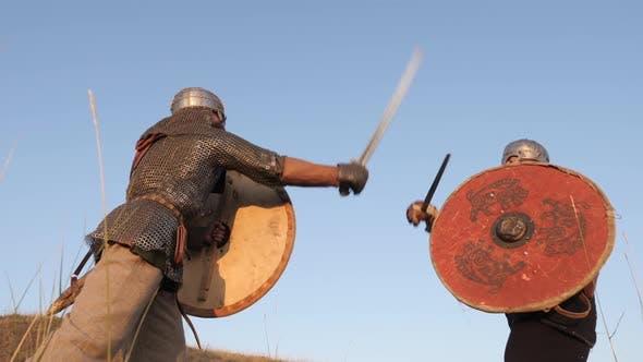 Vikings in a fight