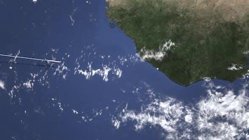 Kommerziell Flugzeuge fliegen nach Monrovia Liberia