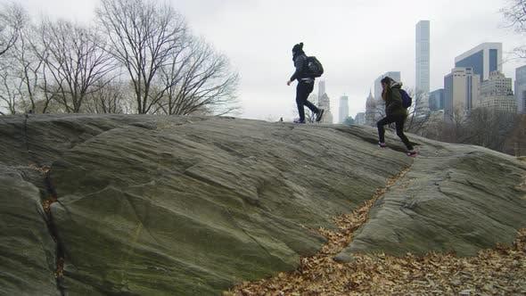 Climbing the Rat Rock