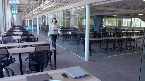 Thumbnail for Young Business Woman Posing at Workplace