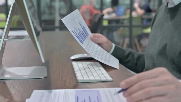 Thumbnail for Close Up Shoot of Man Hand Writing and Checking the Documents