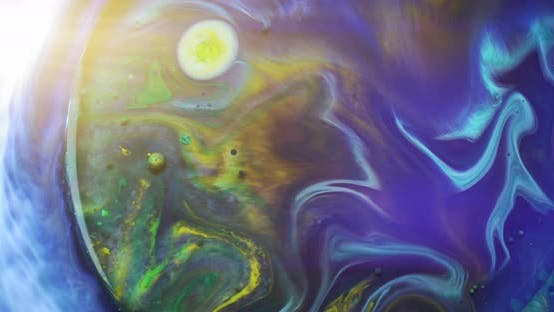 Thumbnail for Beautiful abstract color smoothly moving in water, simulating the earth. Liquid colors macro concept