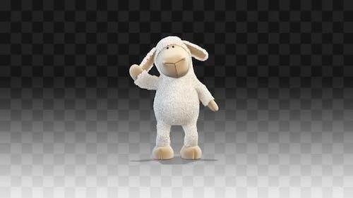 Plush little lamb Greeting