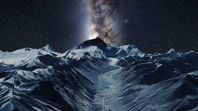 Nepal Mount Everest Milkyway Timelapse