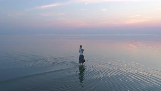 Thumbnail for Natural Woman Walking in Water
