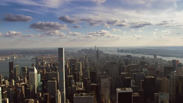 Thumbnail for Incredible Aerial Cityscape Panorama Skyline of Manhattan Skyscraper Architecture of New York